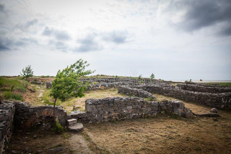 Ruinas romanas de la ciudadela de Histria fotos de archivo libres de regalías