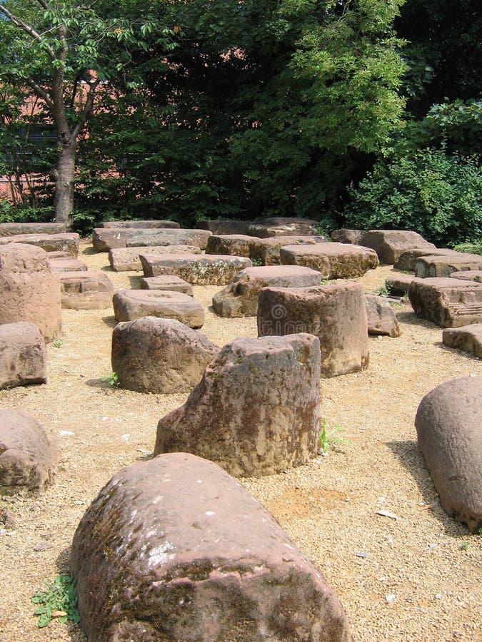 Ruinas romanas en Chester histórica imagen de archivo libre de regalías