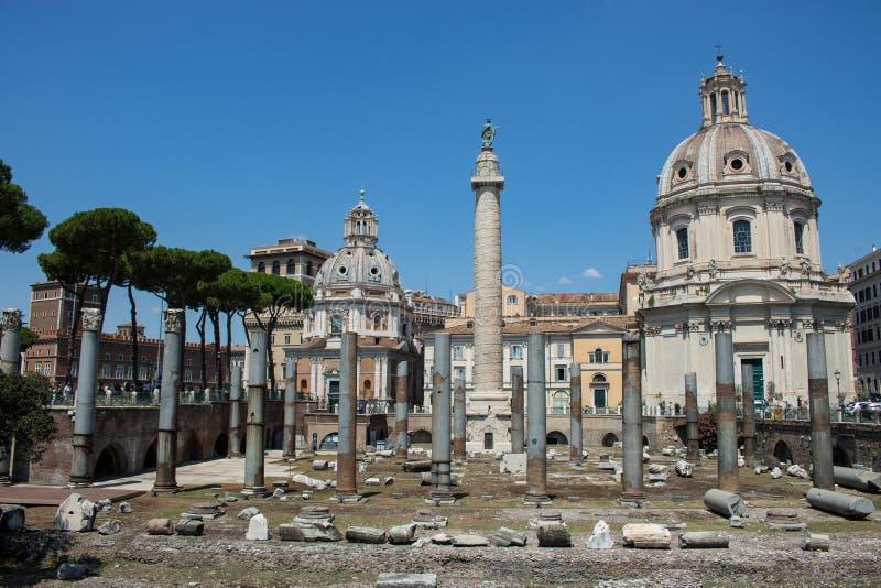 Ruinas romanas en Italia fotografía de archivo