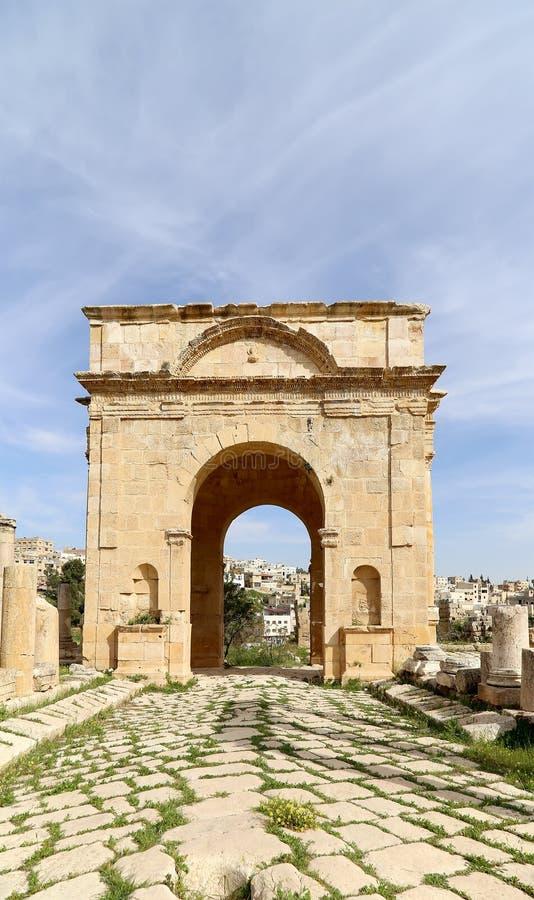 Ruinas romanas en la ciudad jordana de Jerash, Jordania fotos de archivo libres de regalías