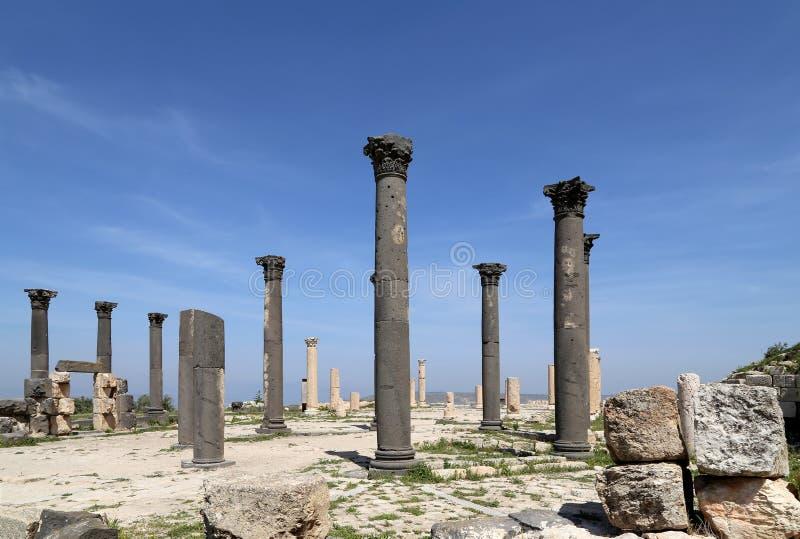Ruinas romanas en Umm Qais (Umm Qays), Jordania fotografía de archivo libre de regalías