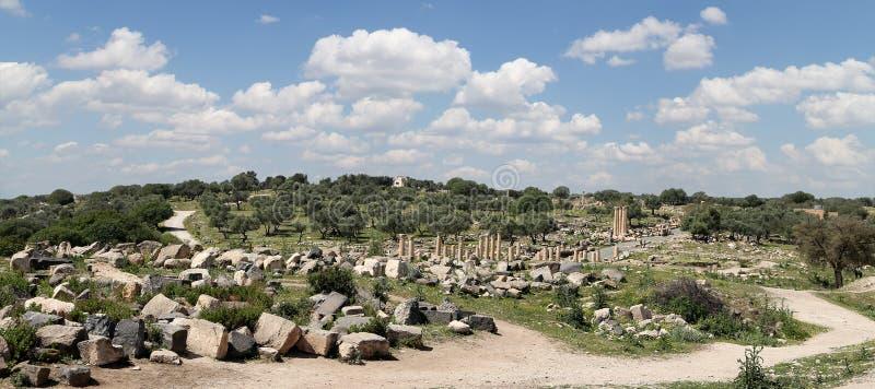 Ruinas romanas en Umm Qais (Umm Qays), Jordania foto de archivo libre de regalías