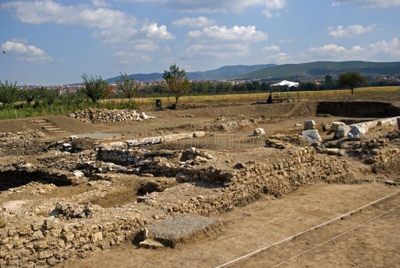 Ruinas romanas, Ulpiana, Kosovo fotos de archivo