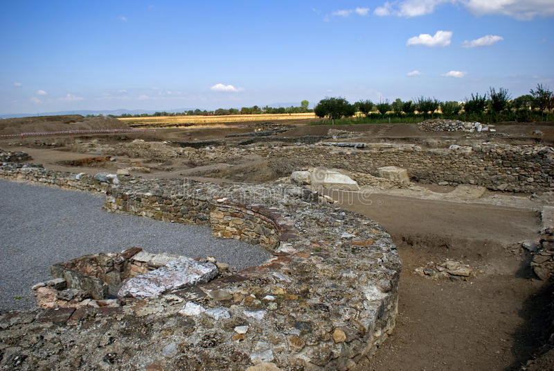 Ruinas romanas, Ulpiana, Kosovo imagenes de archivo