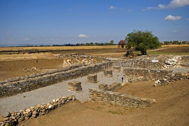 Ruinas romanas, Ulpiana, Kosovo foto de archivo