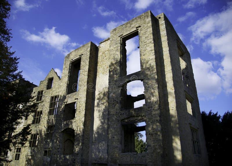 Ruinas viejas de Hardwick Pasillo fotografía de archivo libre de regalías