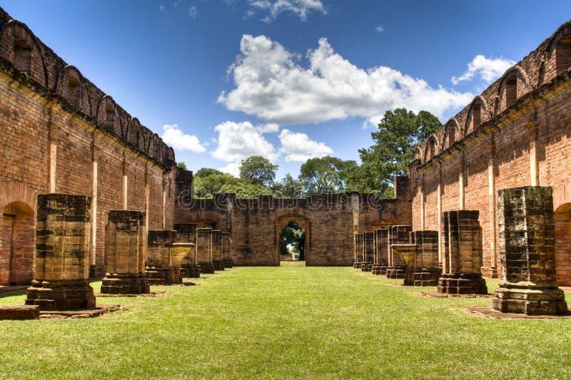 Ruinas viejas de la jesuita en Encarnación fotos de archivo libres de regalías