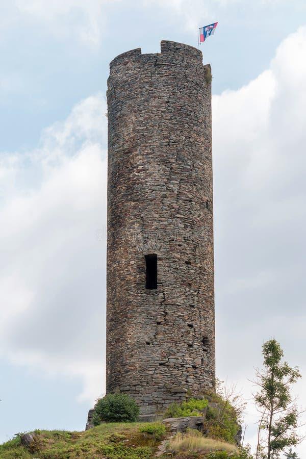 Ruinas viejas del castillo de Neuberg, República Checa fotos de archivo libres de regalías