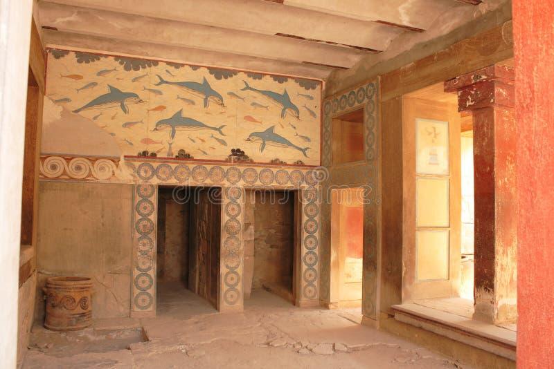 Ruinas viejas del palacio en Knossos foto de archivo