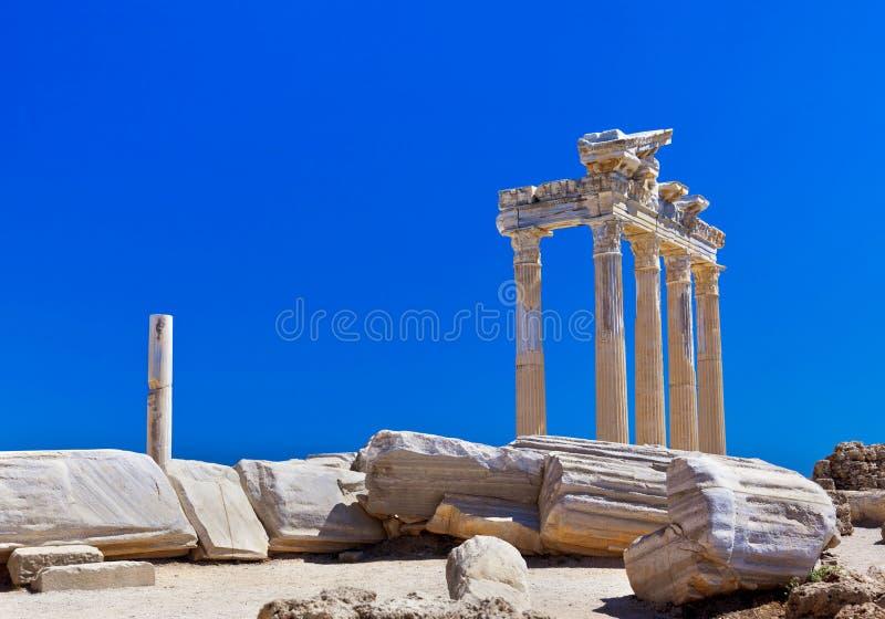 Ruinas Viejas En La Cara, Turquía Imagen de archivo