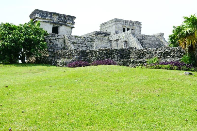 Ruinas viejas en Tulum México foto de archivo libre de regalías