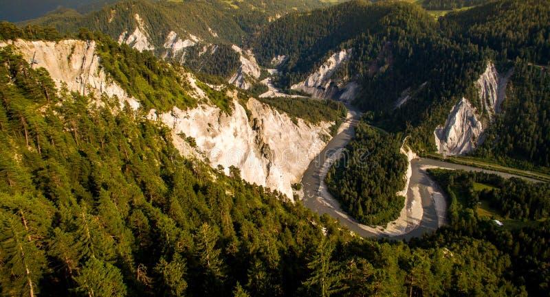 Ruinaulta в Швейцарии стоковое фото