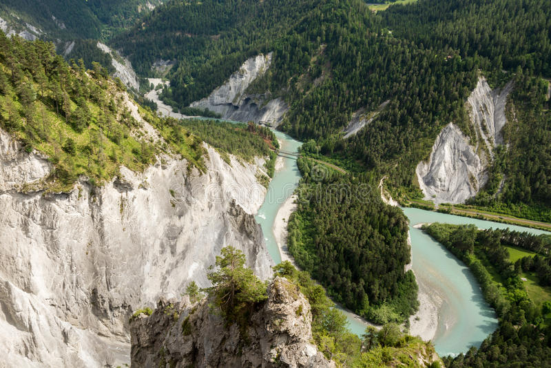 Ruinaulta canyon in Switzerland royalty free stock photos