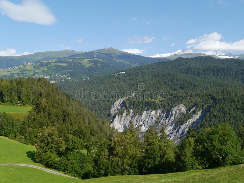 Ruinaulta or grand canyon in Switzerland royalty free stock images