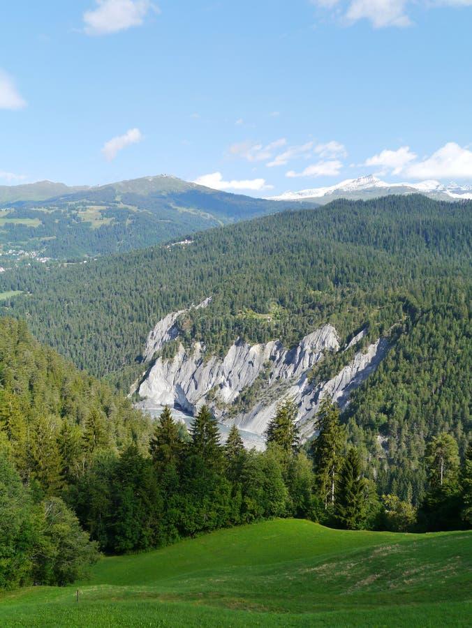 Ruinaulta o Gran Cañón en Suiza foto de archivo libre de regalías