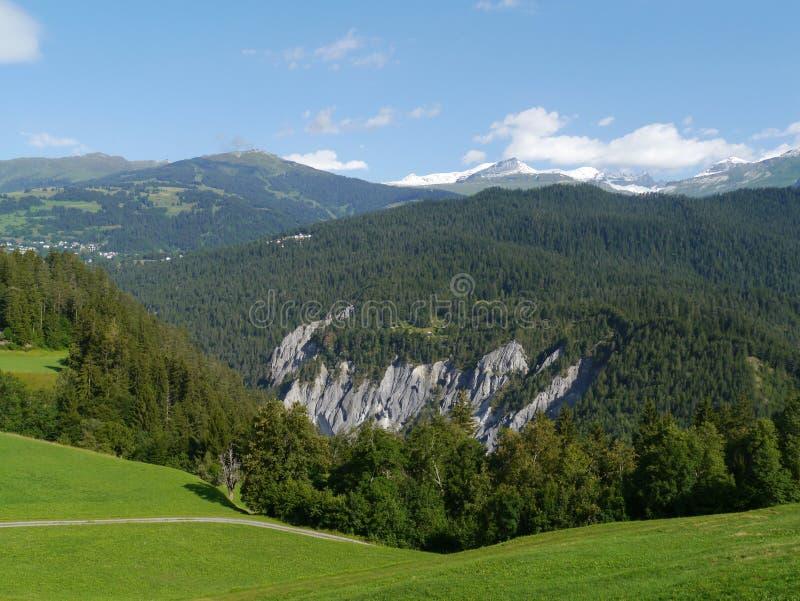 Ruinaulta or Rhine canyon or grand canyon stock image