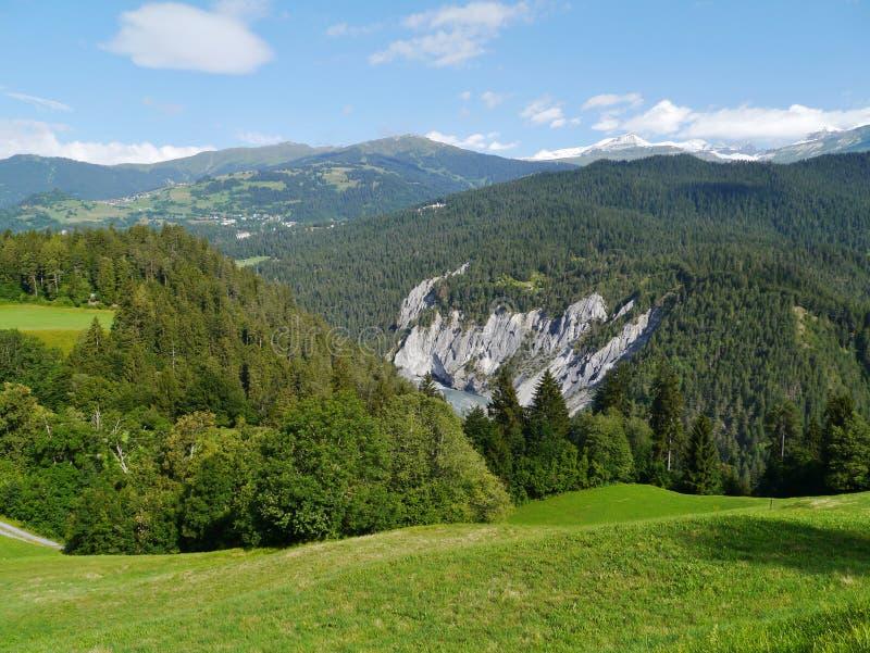 Ruinaulta or Rhine canyonin Switzerland royalty free stock photo