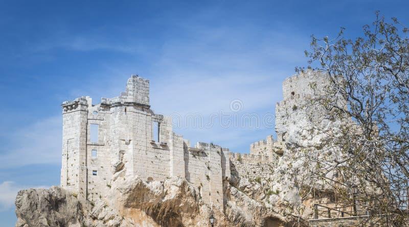 Ruine av slotten i zuheros fotografering för bildbyråer