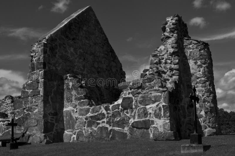 Ruine d'église de Rya   photo libre de droits