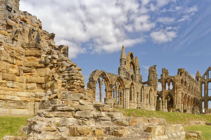 Ruine d'abbaye de Whitby, Yorkshire, R-U photo stock