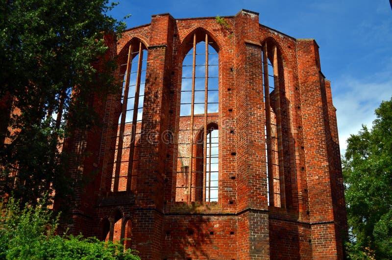 Ruine d'un vieux monastère dans le stralsund, Allemagne photo stock
