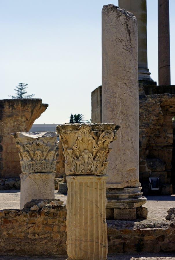 Ruine da cidade antic de carthage fotos de stock
