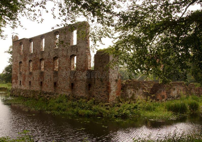 Download Ruine De Château De Trojborg Près De Tonder, Danemark Image stock - Image du histoire, fossé: 76075693