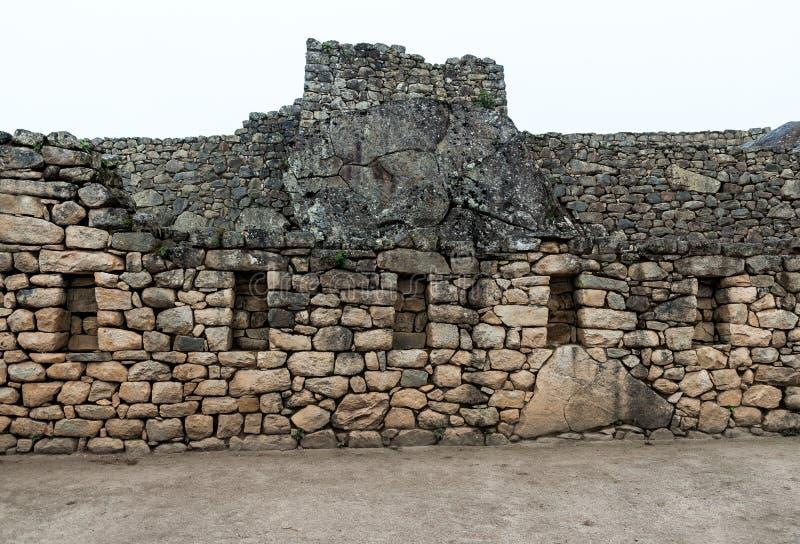 Ruine de fenêtres d'Inca photo stock