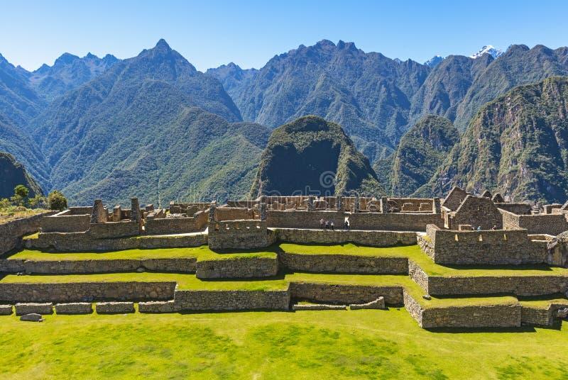 Ruine de Machu Picchu dans les montagnes des Andes, Pérou photo libre de droits