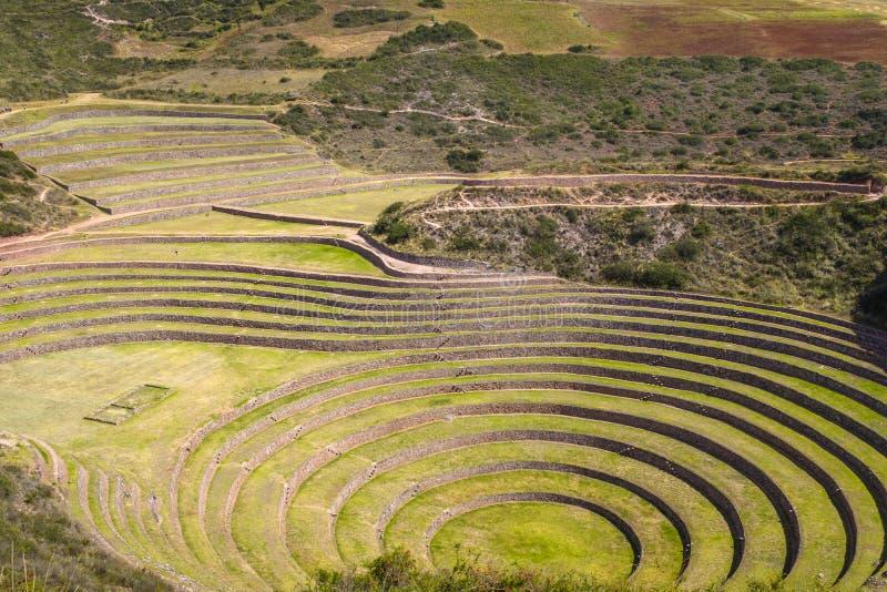 Ruine de Moray Inca au Pérou photo stock