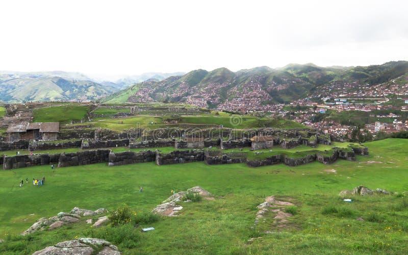 Ruine de Saksaywaman au Pérou photo stock
