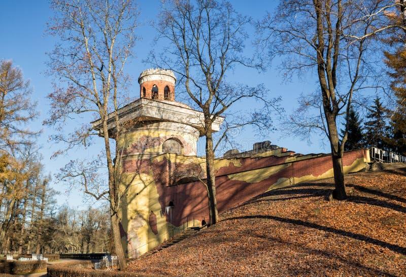 Ruine de tour en Catherine Park images stock