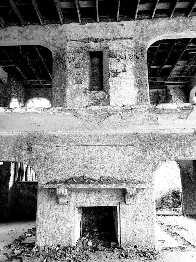 ruine De voy de gosth de château vieille images stock