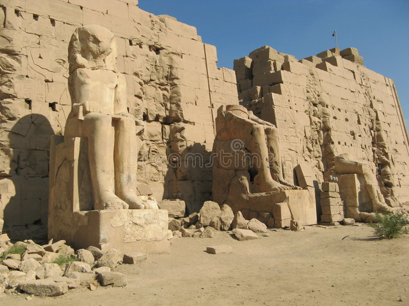 Ruine des Tempels Karnak Luxor lizenzfreies stockfoto