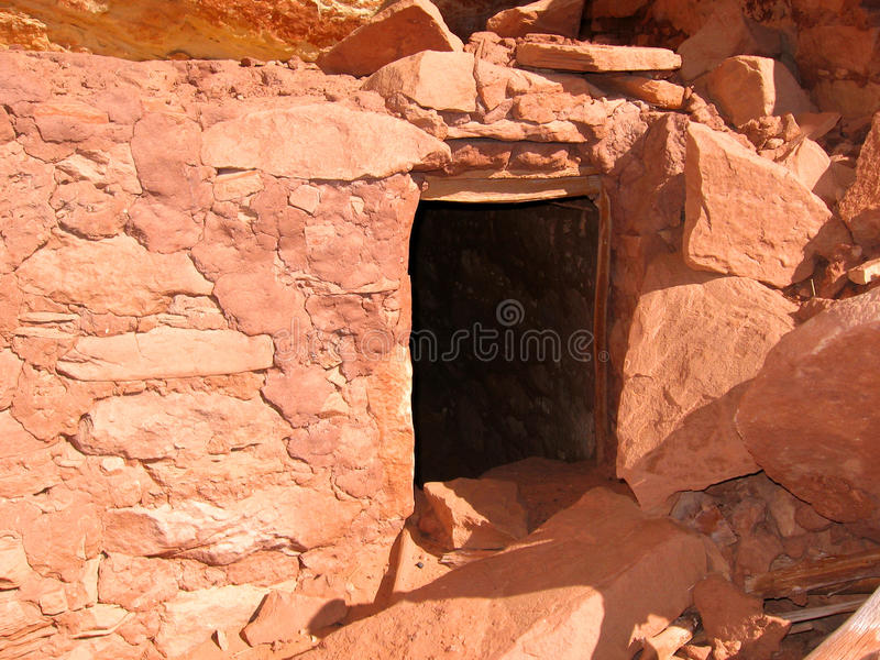 Ruine historique d'Anasazi de Natif américain photos libres de droits