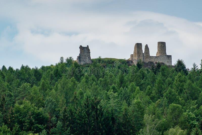 Ruine Hohenburg, Palatinat supérieur de château en Bavière, Allemagne image stock