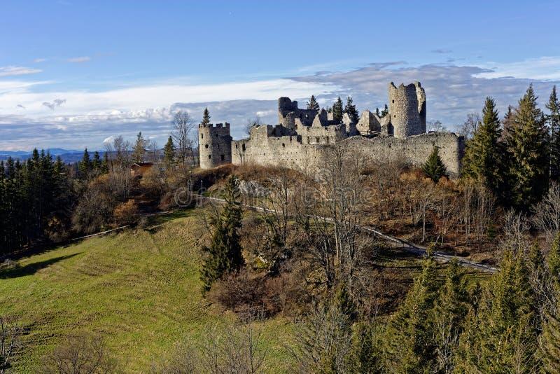 Ruine Hohenfreyberg de château photo stock