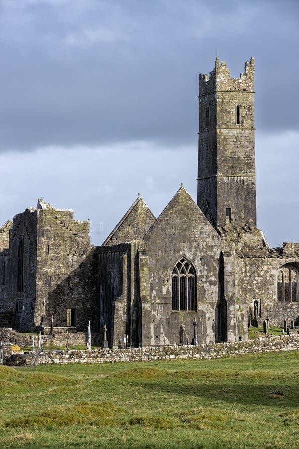 Ruine Irlande de Quin Abbey photos libres de droits