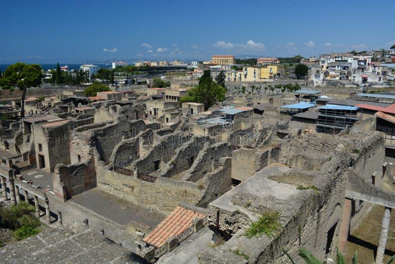 Ruine romano viejo de Hercolaneum fotos de archivo