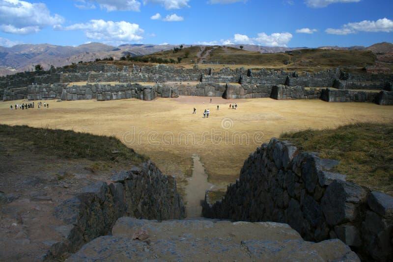 ruine sacsayhuaman images libres de droits