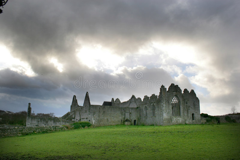 Ruined Abbey, Ireland stock photos