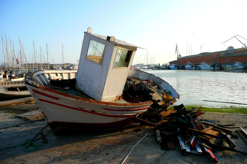 Download Ruined boat stock photo. Image of decaying, sunny, ship - 4470924