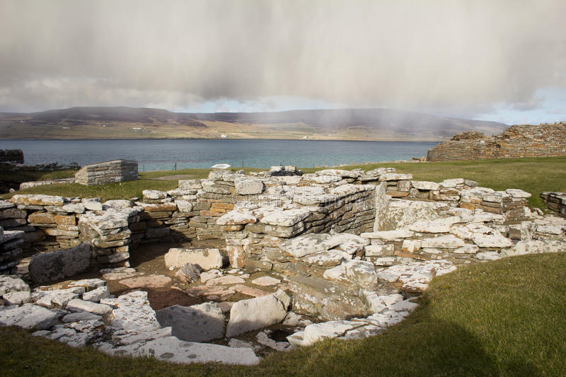 Ruined Broch remains on Orkney royalty free stock photos