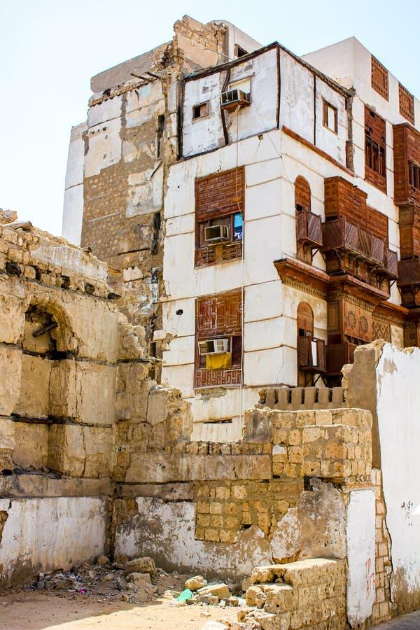 Ruined building in Saudi Arabia stock photos
