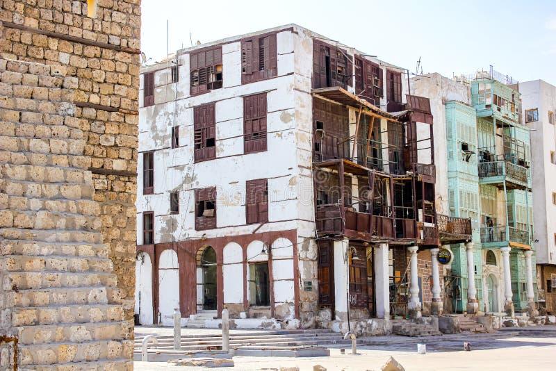 Ruined building in Saudi Arabia royalty free stock images