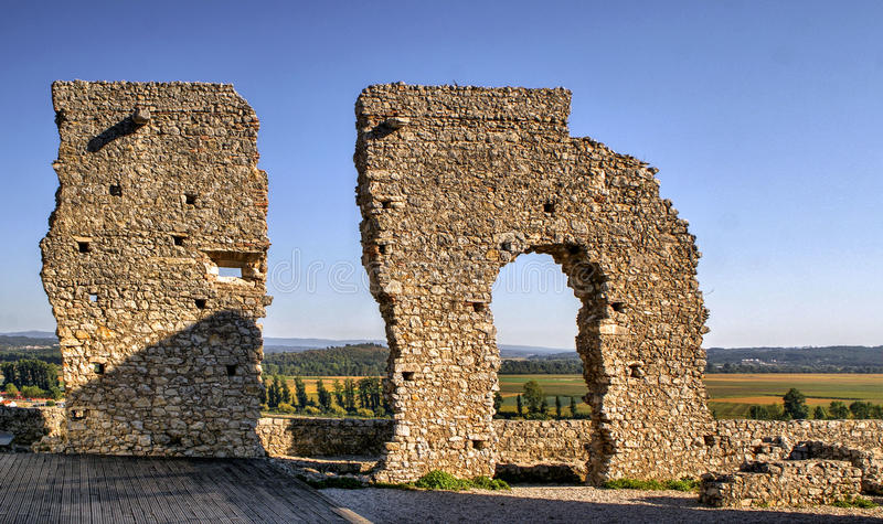 Download Ruined Castle Of Montemor-o-Velho Stock Photo - Image of local, dramatic: 92490518