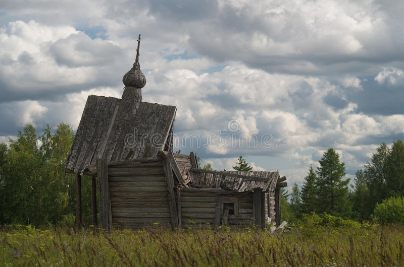 Ruined chapel stock images