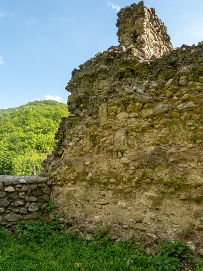 The old church at Vodita monastery, Romania royalty free stock images