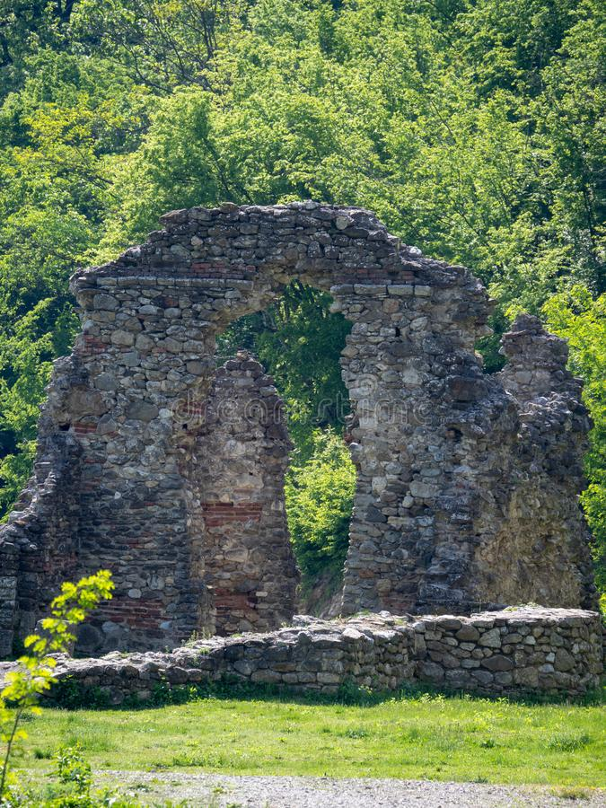 The old church at Vodita monastery, Romania royalty free stock photography