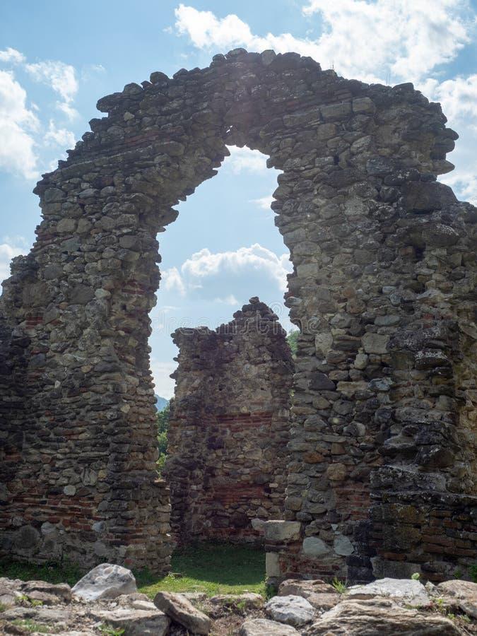 The old church at Vodita monastery, Romania royalty free stock photos